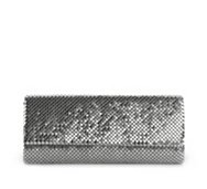 Lulu Townsend Metal Mesh Flap Clutch