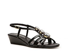 Rangoni by Amalfi Maddelena Patent Leather Wedge Sandal