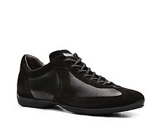 Santoni Leather & Suede Sport Sneaker