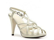 Bally Vilaine Patent Leather Peep Toe Sandal