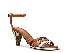 Fendi Leather Ankle Strap Sandal