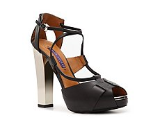 Ralph Lauren Collection Kacy Leather Peep Toe Sandal
