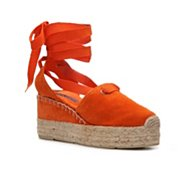Ralph Lauren Collection Uma Suede Wedge Sandal