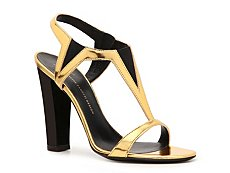 Giuseppe Zanotti Metallic Patent Leather Stretch Sandal