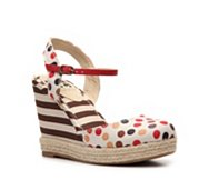 BC Footwear Smirk Polka Dot Wedge Sandal