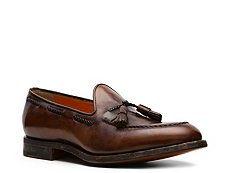Santoni Burnished Leather Tassel Loafer