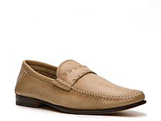 Santoni Leather Strap Loafer