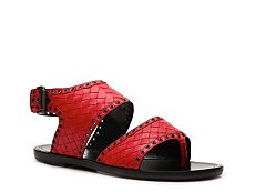 Bottega Veneta Woven Leather Flat Sandal