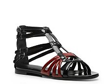 Bottega Veneta Patent Leather Gladiator Flat Sandal