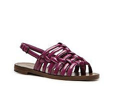 Bottega Veneta Patent Leather Flat Sandal
