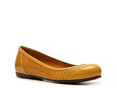 Bottega Veneta Perforated Patent Leather Flat