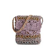 Poppie Jones Pastel Straw Crossbody Bag