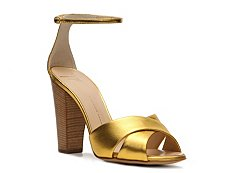 Giuseppe Zanotti Metallic Leather Peep Toe Sandal