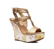 Naughty Monkey Gold Member Wedge Sandal
