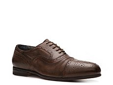 Santoni Textured Leather Cap Toe Oxford