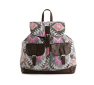 Poppie Jones Printed Canvas Backpack