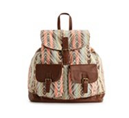 Poppie Jones Printed Canvas Backpack