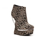 Qupid Sleek-01 Platform Wedge Bootie
