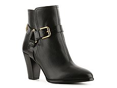 Ralph Lauren Collection Melia Leather Harness Bootie
