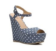 Diba Blane Polka Dot Wedge Sandal