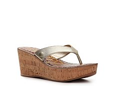 Sam Edelman Romy Metallic Wedge Sandal