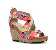 Adrienne Vittadini Clarity Floral Wedge Sandal