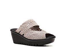 Bernie Mev Lauren Metallic Wedge Sandal