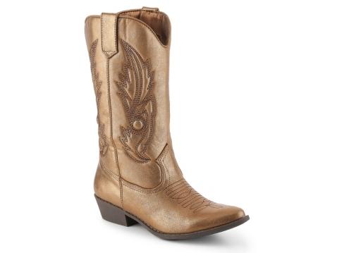 coconuts gaucho metallic cowboy boot dsw