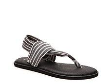 Sanuk Yoga Sling Striped Flat Sandal