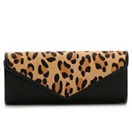 Kelly & Katie Leopard Flap Clutch