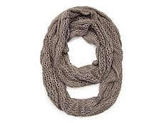 David & Young Open Knit Infinity Scarf