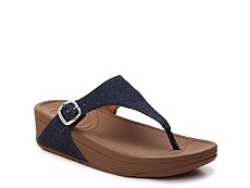 FitFlop Skinny Denim Wedge Sandal