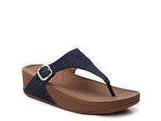FitFlop Skinny Denim Wedge Sandal