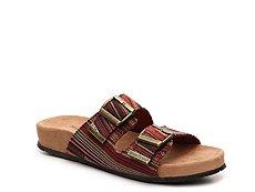 Minnetonka Nita Striped Flat Sandal