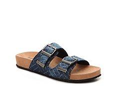 Minnetonka Nita Denim Flat Sandal