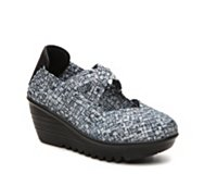 Bernie Mev Drake Printed Woven Wedge Slip-On