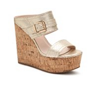 GC Shoes Fiesta Metallic Reptile Wedge Sandal