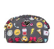 Betsey Johnson Large Emoji Ruffle Cosmetic Bag