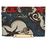 Aldo Blue Floral Partridge Card Case