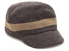 Chaos Stripe Knit Military Hat