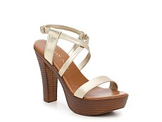 Italian Shoemakers Braided Metallic Platform Sandal