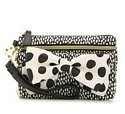 Betsey Johnson Ready Set Bow Spotted Wristlet