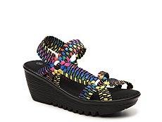 Bernie Mev Crystal Multicolor Wedge Sandal