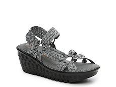 Bernie Mev Crystal Shimmer Wedge Sandal