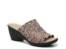 Bernie Mev Kent Floral Wedge Sandal