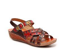 Spring Step Union Wedge Sandal