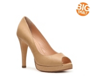 Mercanti Fiorentini Leather Peep Toe Pump