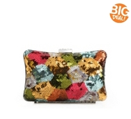 Lulu Townsend Multi Sequin Patch Clutch