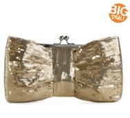 Lulu Townsend Allover Sequin Bow Clutch