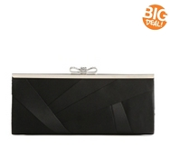 Lulu Townsend Satin Asymmetrical Bow Clasp Clutch